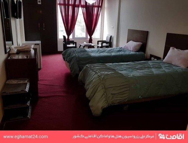 اتاق دو تخته پشت به دریا