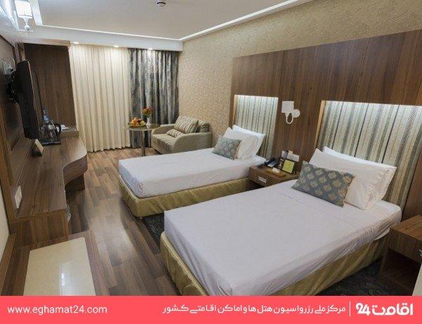 اتاق دو تخته (اقامت 10 ساعت بدون صبحانه)