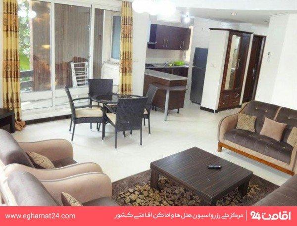 آپارتمان دو خوابه پنج نفره بزرگ ( دو تخت دو نفره + یک سرویس اضافه )