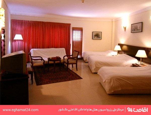 اتاق چهارتخته هتلی