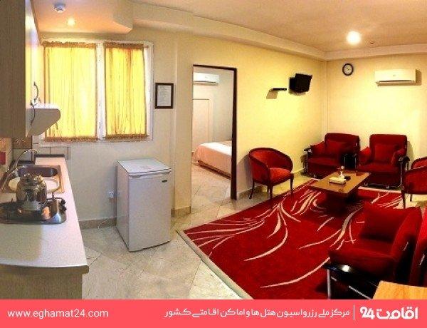 آپارتمان یکخوابه پنج نفره(دو تخته +سه کاناپه)