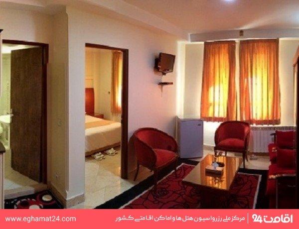 آپارتمان یکخوابه چهارنفره(دو تخته+دوسرویس اضافه)