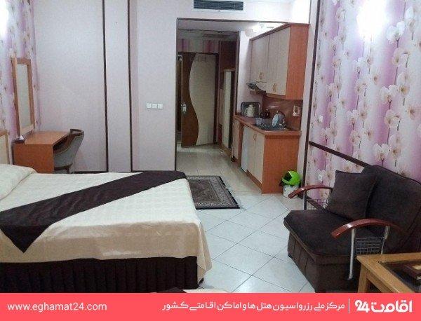 آپارتمان یکخوابه چهار نفره(دو تخته+دو سرویس اضافه)