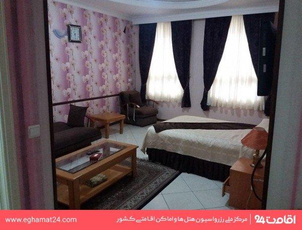 اتاق سه نفره (دو تخته + سرویس اضافه)