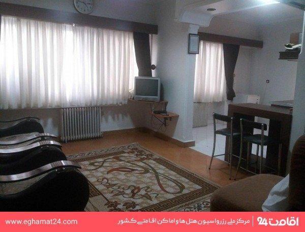 آپارتمان یکخوابه چهارنفره(یک تخت دو نفره+دو سرویس اضافه)