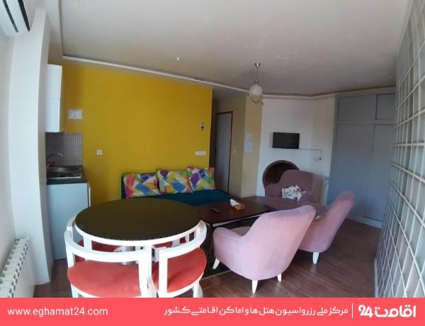 آپارتمان دو خوابه چهار نفره رو به دریا