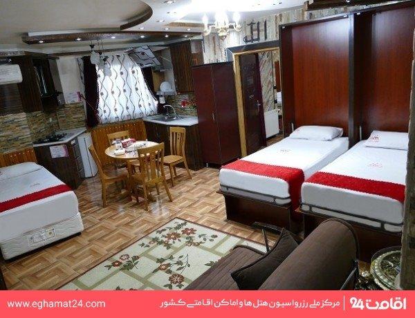 آپارتمان یکخوابه سه نفره 55 متری