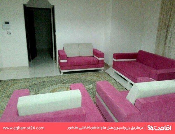 آپارتمان یکخوابه چهار نفره 60 متری(دو تخته+دو سرویس اضافه)