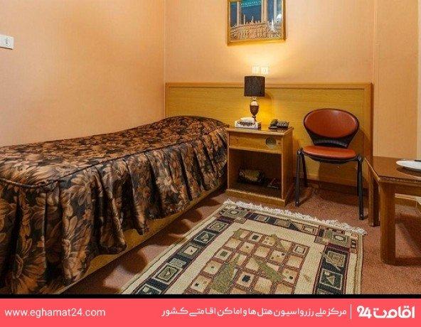 اتاق یک تخته اقامت کوتاه مدت (6 ساعت از 9 الی 16)