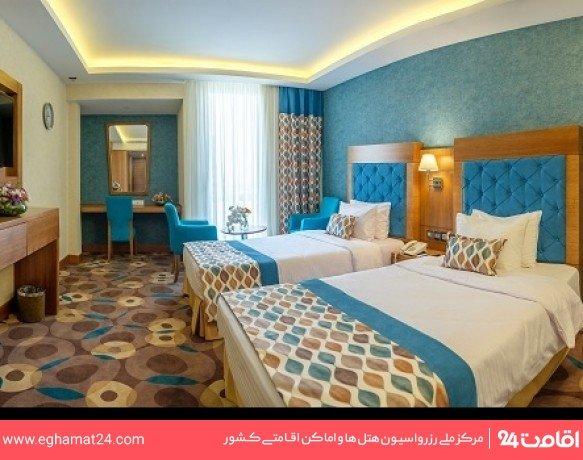 اتاق دو تخته 8 ساعته بدون صبحانه (8 صبح تا 8 شب)