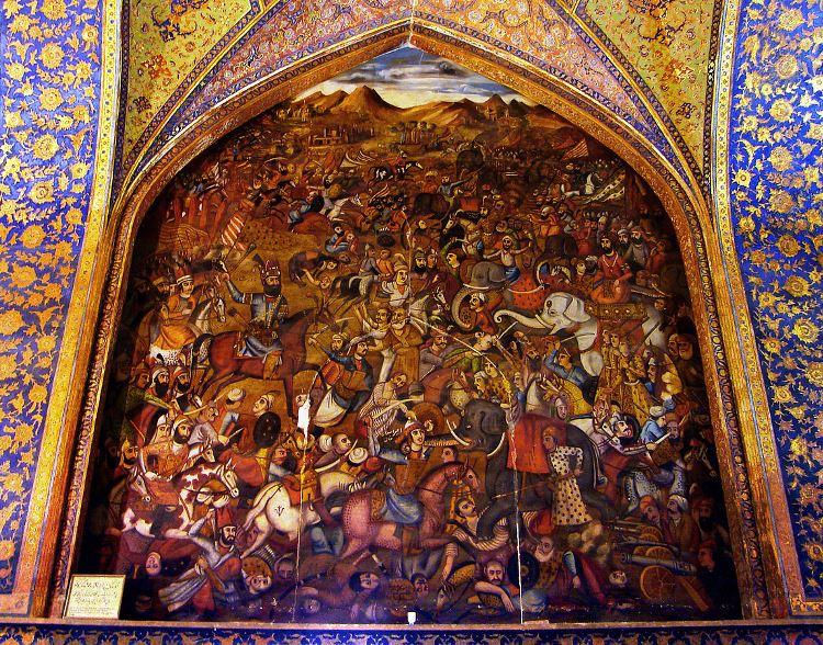 تالار مرکزی چهل ستون اصفهان