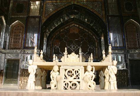 تخت مرمردر کاخ گلستان تهران