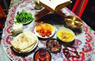 رسم افطاری ساده با غذاهای محلی در گناباد