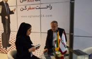 بازدید نماینده مردم تبریز از غرفه اقامت 24 در نمایشگاه الکامپ