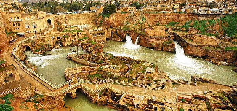 سازههای تاریخی و آبی شوشتر خوزستان