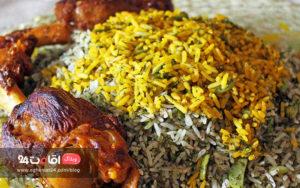 غذای ایرانی باقالی پلو