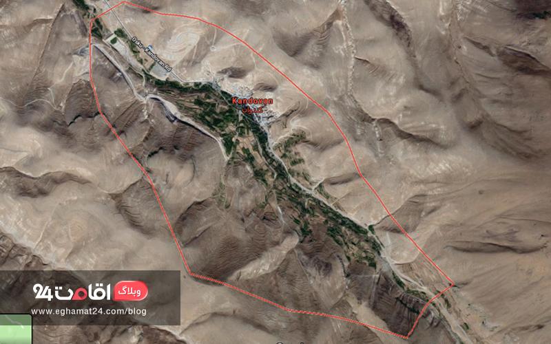 نقشه هوایی کندوان