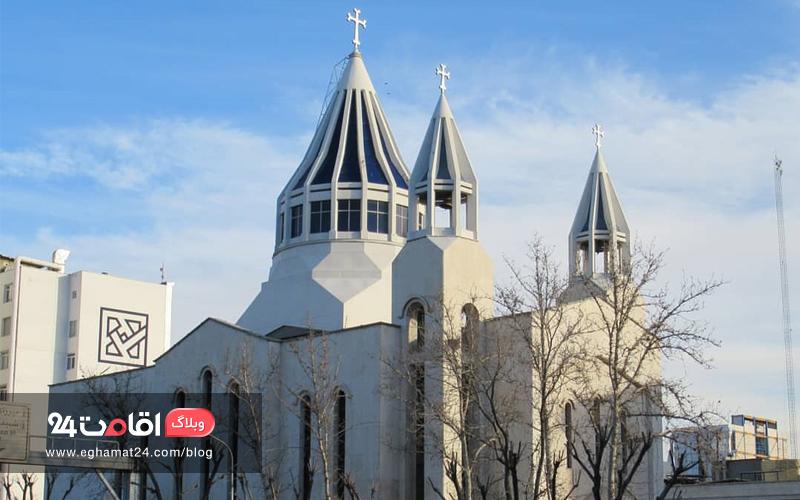 آرامش و نیایش در کلیسای سنت سرکیس تهران