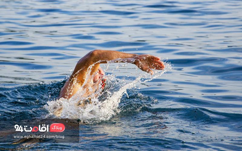 گرفتگی عضله - شنا در دریا