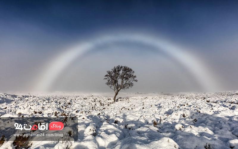 A 'Ghost Rainbow' in Scotland - تصاویر طبیعت