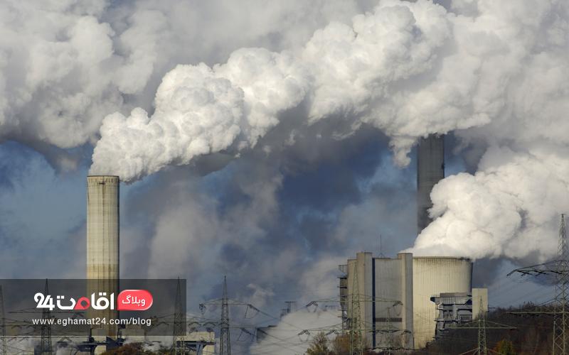 تولید گازهای گلخانه ای توسط کارخانه ها - آلودگی هوا
