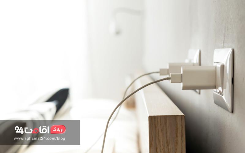 شارژر وسایل الکترونیکی - امکانات رایگان هتل