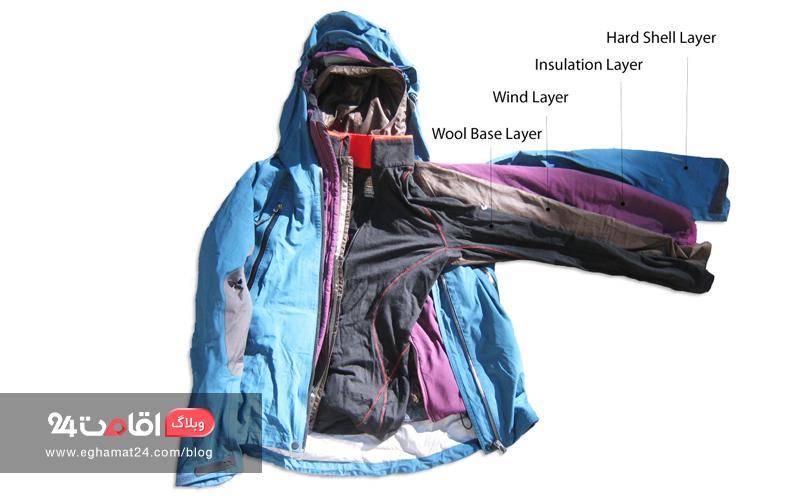 چند لایه لباس پوشیدن - ملزومات سفر پاییز