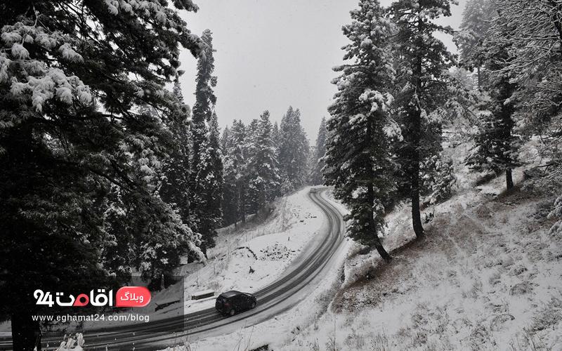 رانندگی جاده ای در زمستان