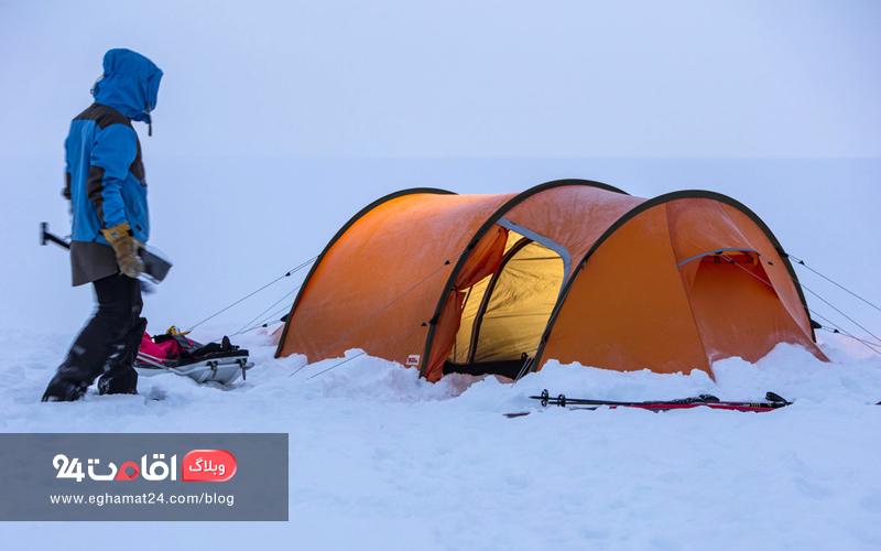 چادر در برف