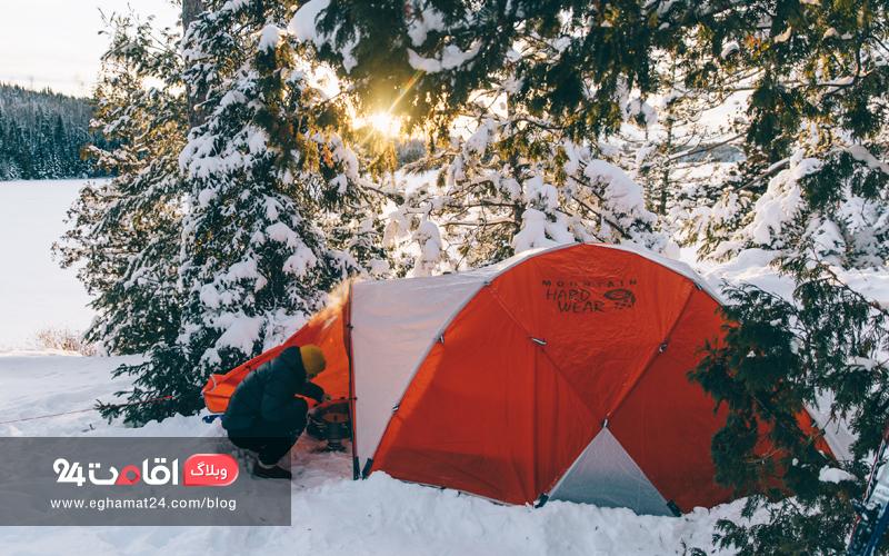 کمپ زدن در زمستان