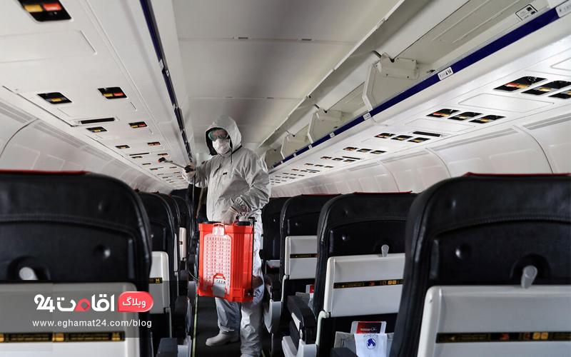 رعایت پروتکل های بهداشتی در سفر هوایی