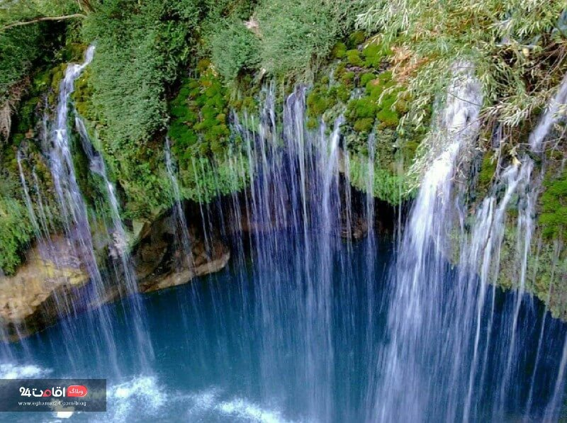 آبشار آب ملخ اطراف اصفهان