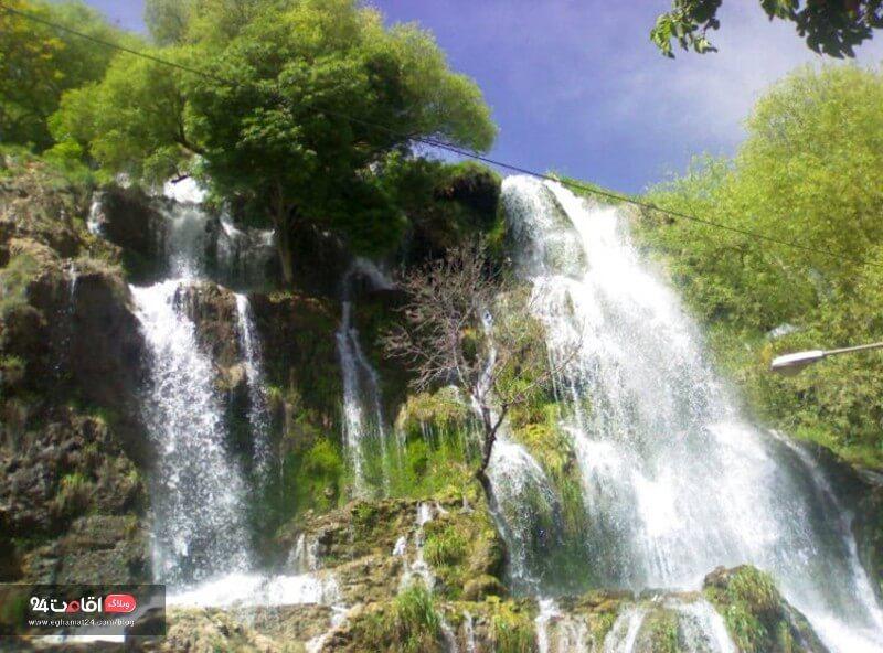 آبشار نیاسر اطراف اصفهان